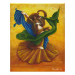 Belly Dancing Gypsy Cat Poster