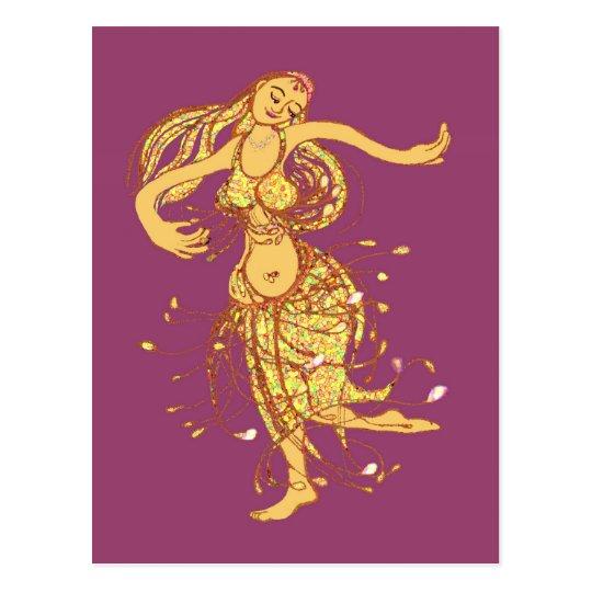 Belly dancing postcard