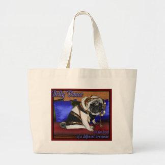 belly dancing pug bag