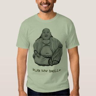 Belly de Buda de la frotación Polera