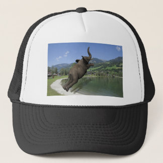 Belly Flop Elephant Trucker Hat