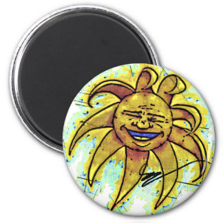Belly Laugh Cartoon Magnet B