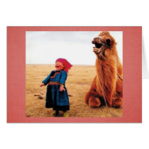 Belly-Laugh Child & Camel