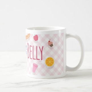 Belly Monster Mug With Food And Pattern