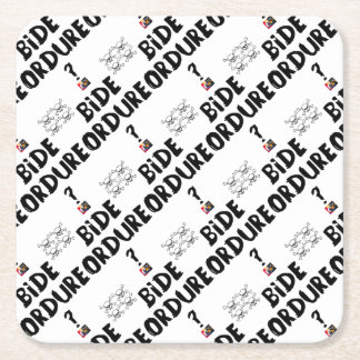 BELLY REFUSE? - Word games - François City Square Paper Coaster