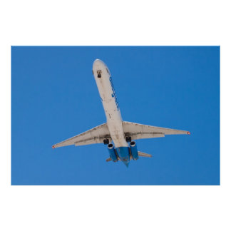 Belly tirado del aire Allegiant MD-88 Póster