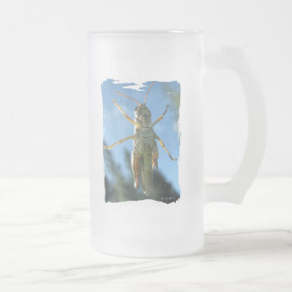 Belly Up to the Bar Frosted Glass Beer Mug