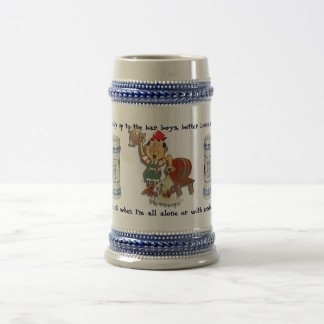 Belly Up To The Bar 18 Oz Beer Stein