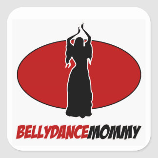 BELLYDANCE  DESIGNS SQUARE STICKER