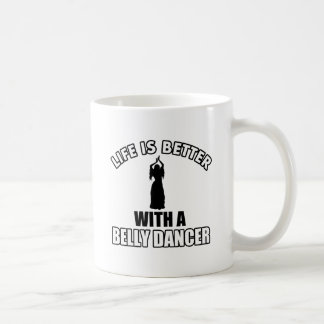 Bellydancing designs classic white coffee mug