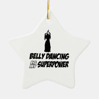 Bellydancing designs christmas ornament
