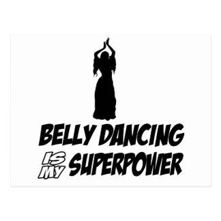 Bellydancing designs postcard