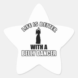 Bellydancing designs star sticker