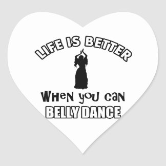 Bellydancing designs heart stickers