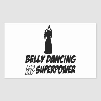 Bellydancing designs rectangle stickers