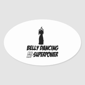 Bellydancing designs oval stickers