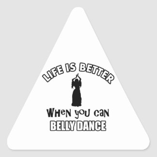 Bellydancing designs triangle stickers