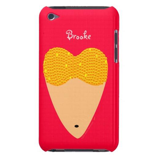 Bellydancing Torso Belly Dancer Heart Custom Name iPod Touch Case-Mate Case