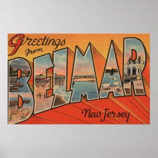 Belmar, New Jersey - escenas grandes de la letra Impresiones