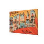 Belmar, New Jersey - Large Letter Scenes Stretched Canvas Prints
