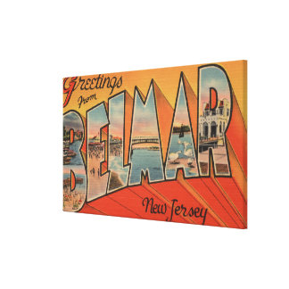 Belmar, New Jersey - Large Letter Scenes Canvas Print