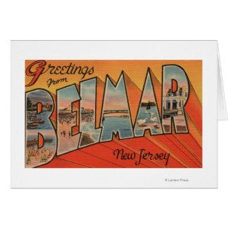Belmar, New Jersey - Large Letter Scenes Card
