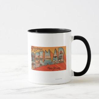 Belmar, New Jersey - Large Letter Scenes Mug