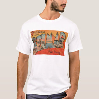 Belmar, New Jersey - Large Letter Scenes T-Shirt