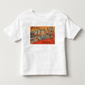 Belmar, New Jersey - Large Letter Scenes Toddler T-shirt