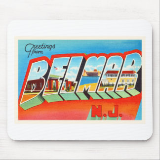 Belmar New Jersey NJ Old Vintage Travel Postcard- Mouse Pad