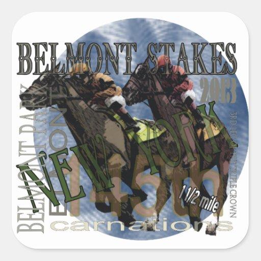 Belmont 145 calcomanía cuadradas