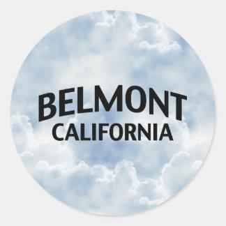 Belmont California Classic Round Sticker