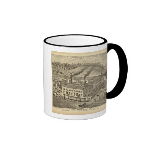 Belmont Glass Works, Bellaire, Ohio Ringer Coffee Mug