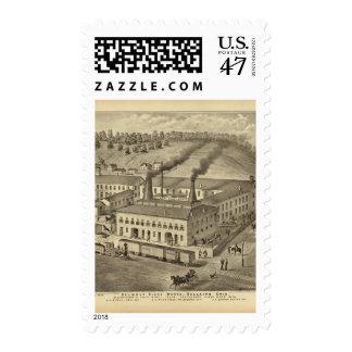 Belmont Glass Works, Bellaire, Ohio Postage