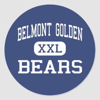 Belmont Golden - Bears - High - Belmont New York Classic Round Sticker