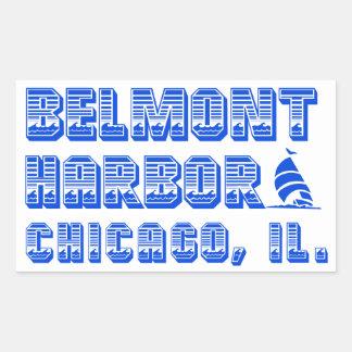 Belmont Harbor Chicago Boat Stickers, Glossy Rectangular Sticker