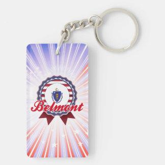 Belmont MA Acrylic Key Chains