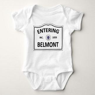 BELMONT MASSACHUSETTS Hometown Mass MA Townie Baby Bodysuit
