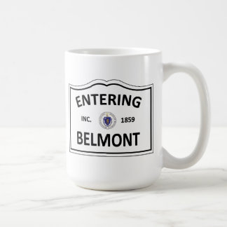 BELMONT MASSACHUSETTS Hometown Mass MA Townie Coffee Mug