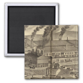 Belmont Nail Works, Wheeling 2 Inch Square Magnet