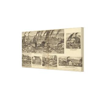 Belmont Nail Works, Wheeling Canvas Print