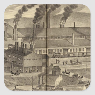 Belmont Nail Works, Wheeling Square Sticker