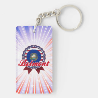 Belmont NH Rectangular Acrylic Key Chain