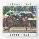 Belmont Park Championship Racing Square Wall Clock