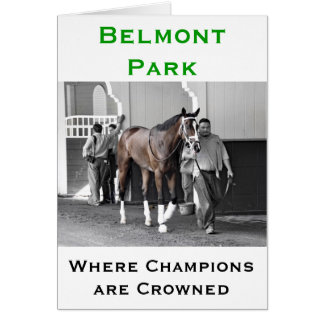 """Belmont Park - """"Where Champions are Crowned"""" Card"""