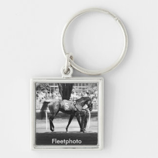 """Belmont Park  """"Where Champions are Crowned"""" Keychain"""