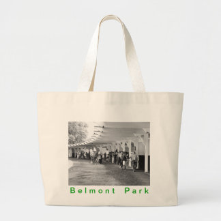 """Belmont Park - """"Where Champions are Crowned"""" Large Tote Bag"""