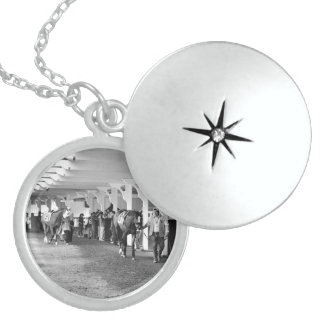 """Belmont Park - """"Where Champions are Crowned"""" Round Locket Necklace"""