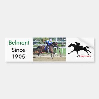 Belmont Park Workouts Car Bumper Sticker