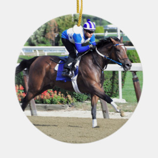 Belmont Park Workouts Ceramic Ornament
